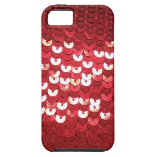 Étui iPhone 5 Paillettes rouges brillantes