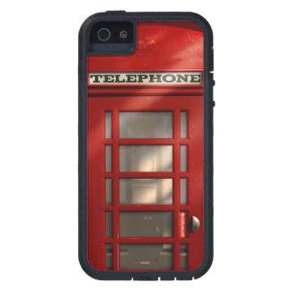 Étui iPhone 5 Phonebox rouge britannique vintage