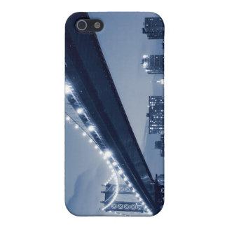 Étui iPhone 5 Pont de Manhattan la nuit, New York City