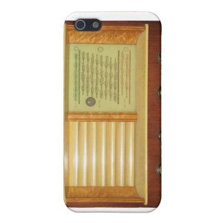 Étui iPhone 5 Radios vintages en bois