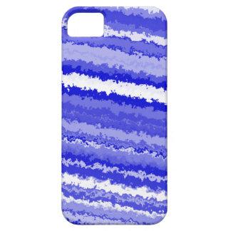Étui iPhone 5 Rayures bleues et blanches