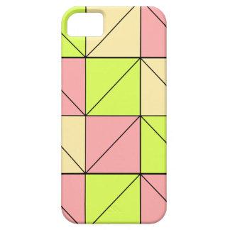 Étui iPhone 5 Rose en pastel, vert, et cas de téléphone de jaune