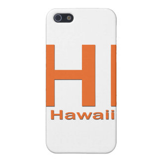 Étui iPhone 5 SALUT orange simple d'Hawaï