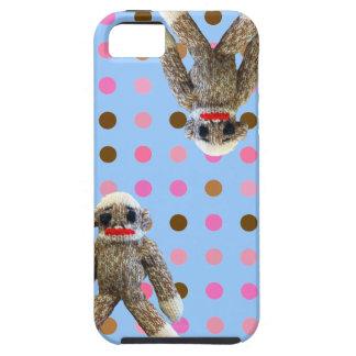 Étui iPhone 5 Singe de chaussette de point de polka
