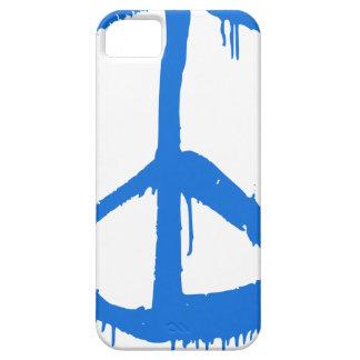 Étui iPhone 5 Symbole bleu de signe de paix