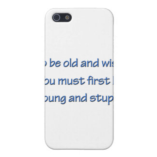 Étui iPhone 5 Vieux et sage bleu