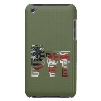Étui iPod Touch Américain militaire privé Pvt de vert d'armée des