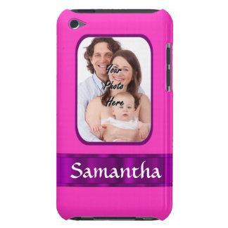 Étui iPod Touch Arrière - plan rose au néon de photo