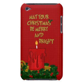 Étui iPod Touch Joyeuse bougie lumineuse de Noël, contact 4g de