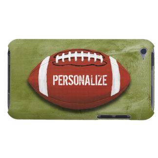 Étui iPod Touch Le football grunge vert personnalisé