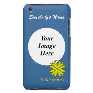 Étui iPod Touch Modèle jaune de ruban de trèfle
