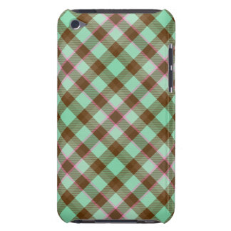Étui iPod Touch Plaid de tartan, cas de contact de la