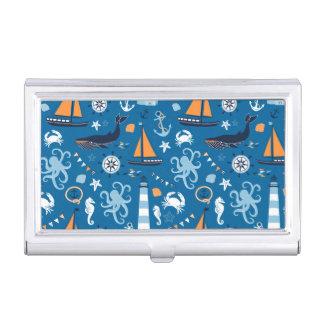 Étui Pour Cartes De Visite Bleu profond toutes les choses nautiques