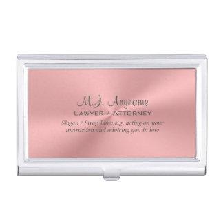Étui Pour Cartes De Visite Chrome-regard de luxe de rose rose