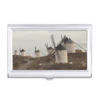 Étui Pour Cartes De Visite Consuegra, moulins à vent antiques de Mancha de La