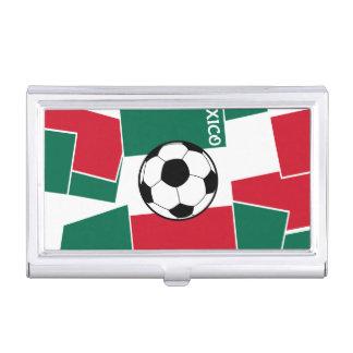 Étui Pour Cartes De Visite Drapeau du football du Mexique