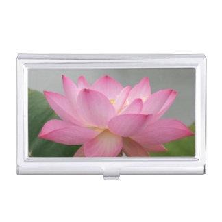 Étui Pour Cartes De Visite Fleur de Lotus rose