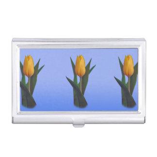 Étui Pour Cartes De Visite Fleur d'or de tulipe