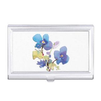 Étui Pour Cartes De Visite Fleurs d'aquarelle