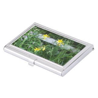 Étui Pour Cartes De Visite Fleurs jaunes assez petites