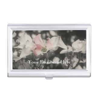 Étui Pour Cartes De Visite Fleurs roses de fleur de cornouiller