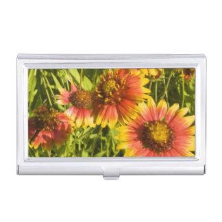 Étui Pour Cartes De Visite Fleurs sauvages de pulchella de Gaillardia de