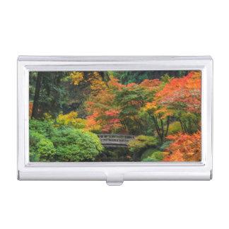 Étui Pour Cartes De Visite Jardins japonais en automne à Portland, Orégon 5