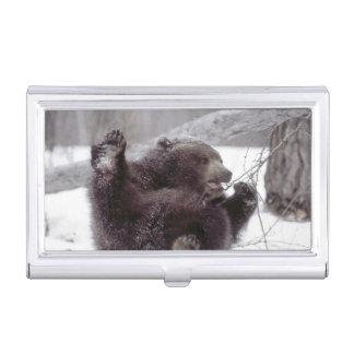 Étui Pour Cartes De Visite Les Etats-Unis, Alaska. Jeux grisâtres juvéniles