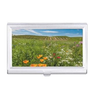 Étui Pour Cartes De Visite Les Etats-Unis, Washington, Walla Walla. Fleurs