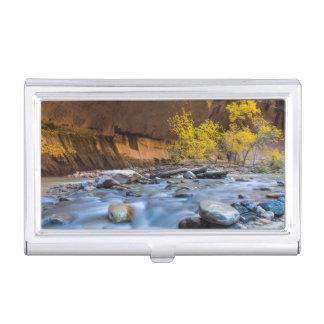 Étui Pour Cartes De Visite Les étroits de la rivière de Vierge en automne