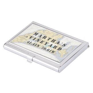 Étui Pour Cartes De Visite Longitude nautique de latitude de Martha's