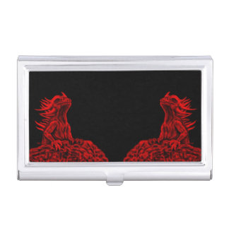 Étui Pour Cartes De Visite Peu de dragon rouge