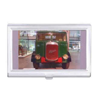 Étui Pour Cartes De Visite Porte-cartes de carte de visite antique de camion