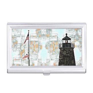 Étui Pour Cartes De Visite Thème de phare de porte-cartes de carte de visite