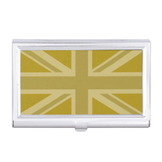 Étui Pour Cartes De Visite Union Jack/or de drapeau