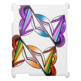 Étuis iPad Conception psychédélique sur la caisse blanche