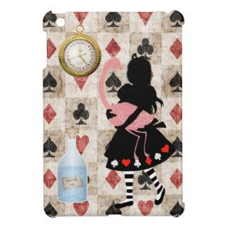 Étuis iPad Mini Alice et cas d'iPad rose de flamant mini