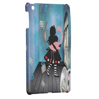 Étuis iPad Mini Alice surréaliste et cas d'iPad rose de flamant