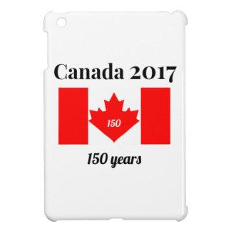 Étuis iPad Mini Drapeau de coeur du Canada 150 en 2017