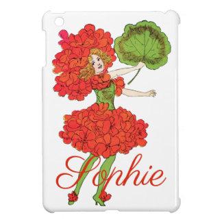 Étuis iPad Mini Fée rouge vintage Personnalised de fleur