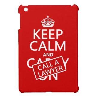 Étuis iPad Mini Gardez le calme et appelez un avocat (dans toute