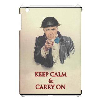 Étuis iPad Mini Gardez le calme et continuez