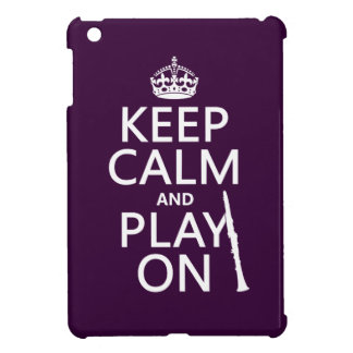 Étuis iPad Mini Gardez le calme et le jeu sur (clarinette) (toute