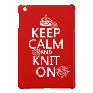 Étuis iPad Mini Gardez le calme et tricotez dessus - toutes les