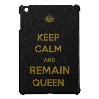 Étuis iPad Mini Gardez le calme pour rester cas d'iPad du style 1