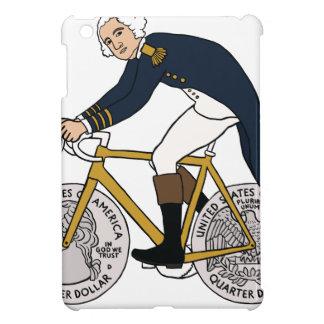 Étuis iPad Mini George Washington sur le vélo avec les roues