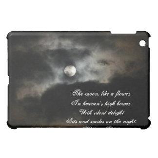 Étuis iPad Mini Nuit éclairée par la lune Ciel-avec la citation
