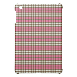 Étuis iPad Mini Plaid Pern de fuchsia/chocolat