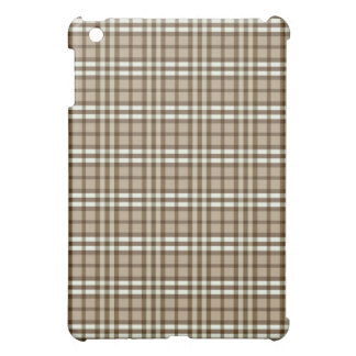 Étuis iPad Mini Plaid Pern de Taupe/chocolat