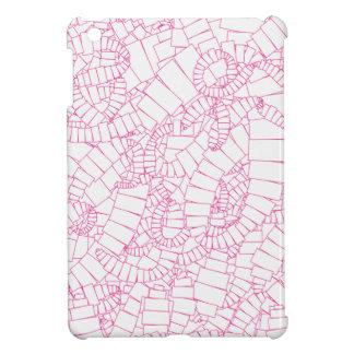 Étuis iPad Mini Vortex rose des rectangles